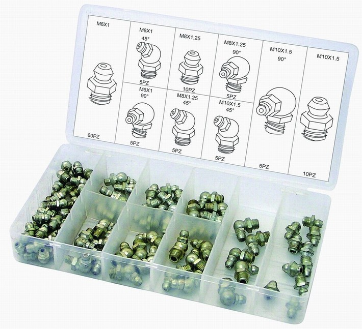 110Pc Hydraulic Grease Fitting Assortment