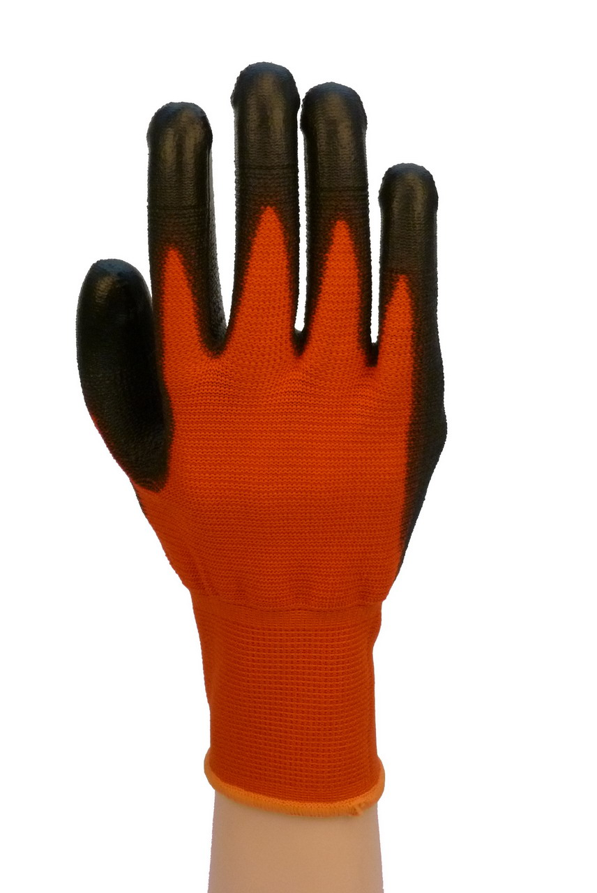 "10"" Black PU Palm Coated Gloves"