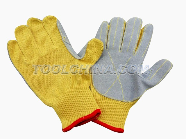 Satety Gloves,PPTA,cow split leather