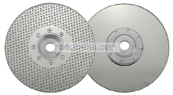 Electroplated Diamond Blade cutting& grinding disc SINGLE SIDE TRANGLE COATED