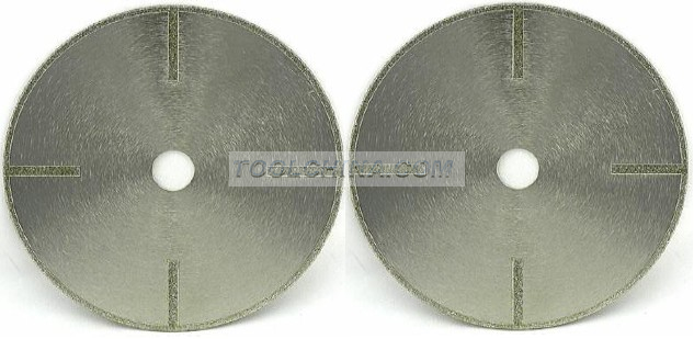 Electroplated Diamond Blade cutting blade DOUBLE SIDE STRAIGHT REINFORCING RIB
