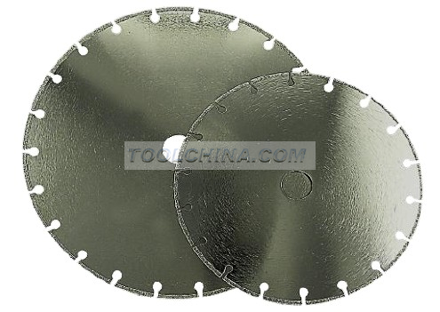 Electroplated Diamond Blade cutting blade segment with cooling hole