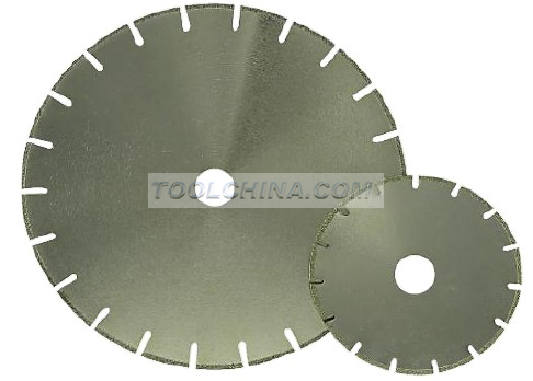 Electroplated Diamond Blade cutting blade with double U type REINFORCING RIB