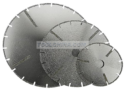 Electroplated Diamond Blade cutting blade U slot with DOUBLE SIDE STRAIGHT REINFORCING RIB