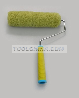 Paint roller frame and cover